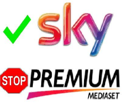 diritti tv calcio su sky e non su mediaset premium