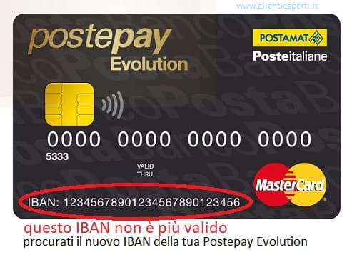 postepay evolution ha un nuovo IBAN