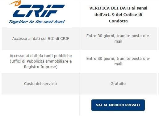 controllo CRIF